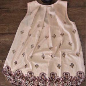 extra small womens shirt tank top  tunic tan